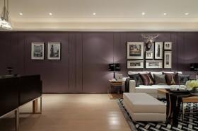 135平毛坯房现代简约雅居三室两厅现代简约客厅装修效果图设计欣赏