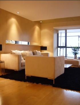 现代简约新家两室一厅现代简约客厅装修效果图设计欣赏