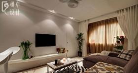80后婚房客厅电视机墙设计