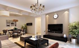 现代风格客厅液晶电视机背景墙图片欣赏
