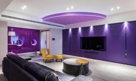 美轮美奂的仙境 昆明家庭装修图三室两厅混搭客厅装修效果图设计欣赏