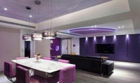 美轮美奂的仙境 昆明家庭装修图三室两厅混搭客厅餐厅装修效果图设计欣赏