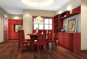 中式家庭装修效果图一室一厅中式古典餐厅装修效果图设计欣赏