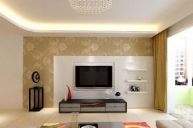 现代客厅电视机背景墙装修效果图大全2015图片
