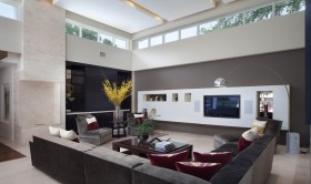家庭装修客厅电视背景墙效果图