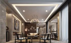 最新中式一居客厅吊灯装修设计效果图大全2015图片