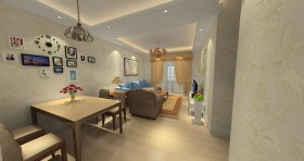 竹海水韵 现代简约设计风格两室一厅现代简约客厅装修效果图设计欣赏