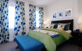 17万打造温馨奢华欧式风格二居卧室窗帘装修效果图大全2015图片