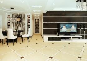 两室一厅现代客厅电视背景墙装修效果图大全2015图片