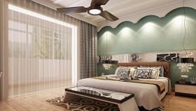 牌坊花园现代风格室内卧室窗帘装修效果图大全2015图片