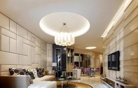 现代客厅吊灯造型设计效果图片
