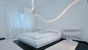 简约装修主卧室效果图 个性墙面灯装饰设计