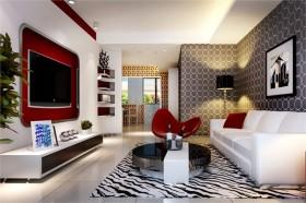 欧式装修风格案例26 三居 欧式 客厅 隔断