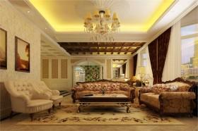 欧式装修风格案例15 四居 欧式 客厅 隔断