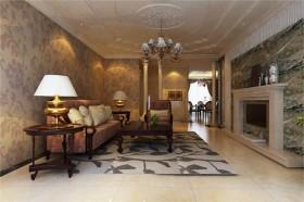 欧式装修风格案例17 三居 欧式 客厅 隔断