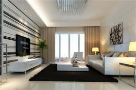 欧式装修风格案例23 三居 欧式 客厅 隔断
