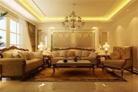 欧式装修风格案例8 三居 欧式 客厅 隔断