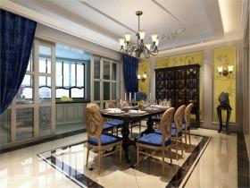 林溪山庄叠加别墅古典风格 复式 古典 厨房 窗帘