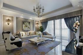 新古典装修 三居 古典 客厅 隔断