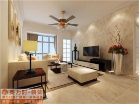 正恒国际95平米现代简约风格装修设计 三居 简约 客厅 隔断