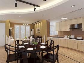 永泰路紧凑房型改造开放式厨房及明厅 小户型 欧式 厨房 餐厅背景墙