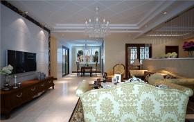 烟台装饰公司科瑞装饰 复式别墅装修设计 三居 现代 客厅 隔断