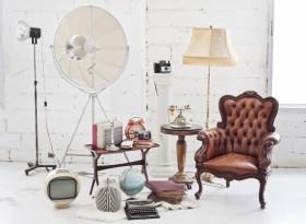 欧式沙发与老式家电图片
