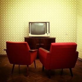 复古客厅电视沙发图片
