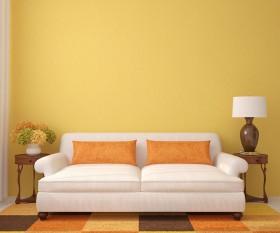 沙发与台灯图片