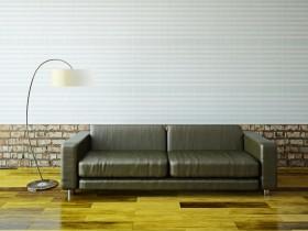 客厅沙发和台灯图片