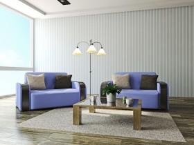 紫色沙发与台灯图片