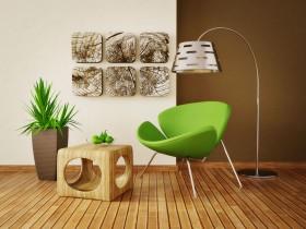 绿色椅子茶几台灯图片