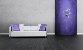 现代吊灯与时尚沙发图片