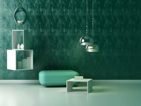 现代吊灯与沙发图片