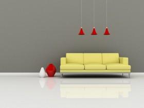吊灯与沙发图片